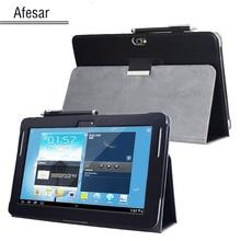 GT N8000 N8010 N8013 Nota 10.1 (Versión 2012) avanzada cubierta del soporte de cuero para Samsung N8005 N8020 SCH-I925 estantería Tableta