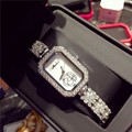 Новое прибытие женские часы люксовый бренд Горный Хрусталь кристалл Камелии дамы браслет кварцевые часы montre femme де марка часы