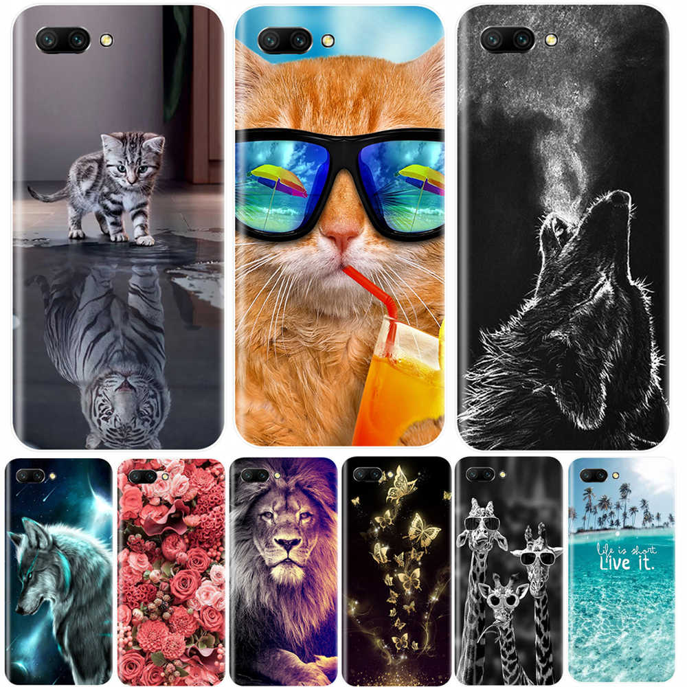 Phone Case For Huawei Honor 7A 7C 7S 7X 8 Pro Soft Silicone TPU Cute Cat Painted Back Cover For Huawei Honor 10 9 8 7 Lite Case