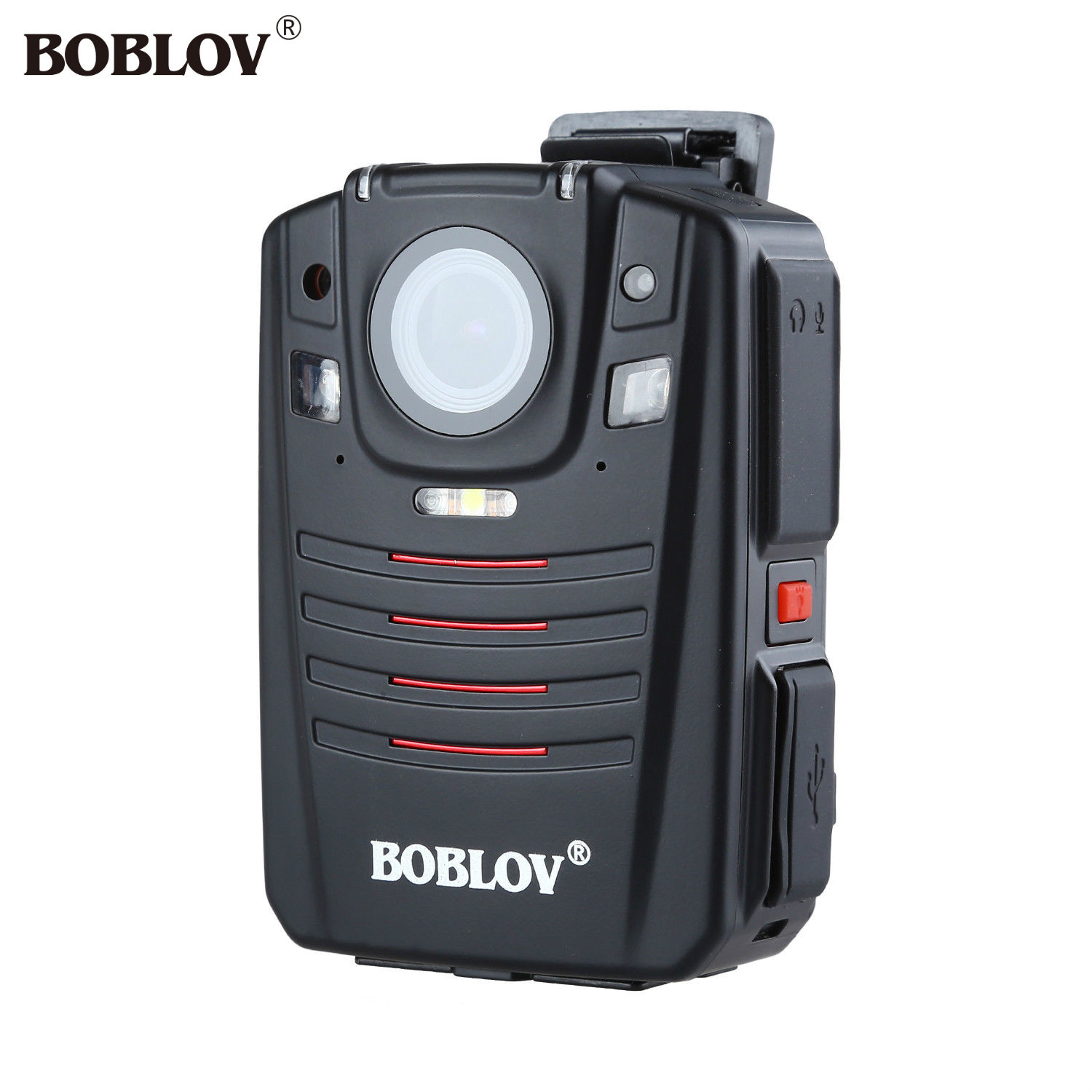 BOBLOV HD66-07 1296P 64GB Audio Video Recorder 2.0 LCD Night Vision Video Body Camera Ambarella A7 Police Cam GPS Remote Control
