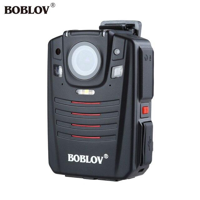 BOBLOV HD66-07 1296P 64GB Audio Video Recorder 2.0 LCD Night Vision Video Body Camera Ambarella A7 Police Cam GPS Remote Control