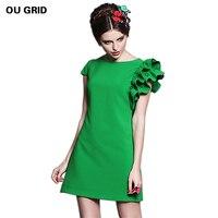 New Arrival Women Casual Dress 2014 Fashion Women Summer Plus Size Clothing Xl 6XL Fresh A