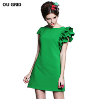 New Arrival Women Casual Dress 2014 Fashion Women Summer Plus Size Clothing Xl 6XL Fresh A