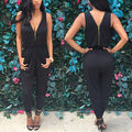 Women Jumpsuit Romper lady Sleeveless chiffon bodysuit women Black Trousers long pants in womens clothes sexy women playsuit