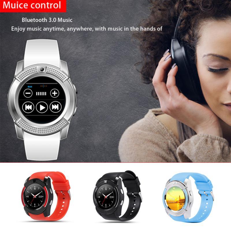 Bluetooth V8 Smart Watch reloj deportivo for School Students SIM GSM Card Smart Watch Health Clock Sports Exercise Pedometer