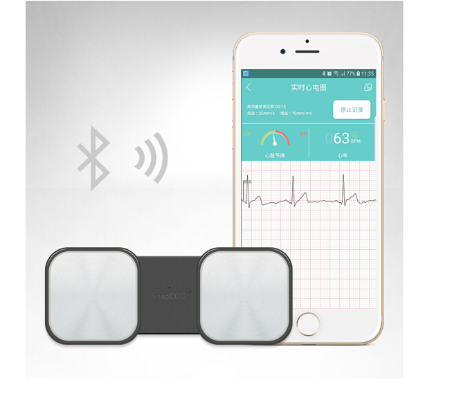 Handheld ECG Heart Monitor For Wireless Heart Performance Without Metal Electrodes Required Home Use EKG Monitoring Ios Android
