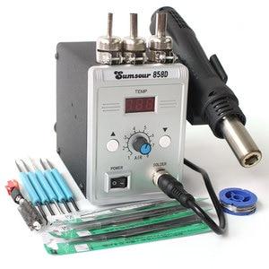 Image 4 - Soldering Desoldering Station 858D 220V / 110V 700W Adjustable Digital Display Heat Gun BGA SMD Hot Air Gun Rework Solder Repair