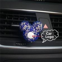 Новый шаблон Высокого класса моды Автомобильный кондиционер выходе духи держатель Автомобиля логотип с алмазной украшения различных