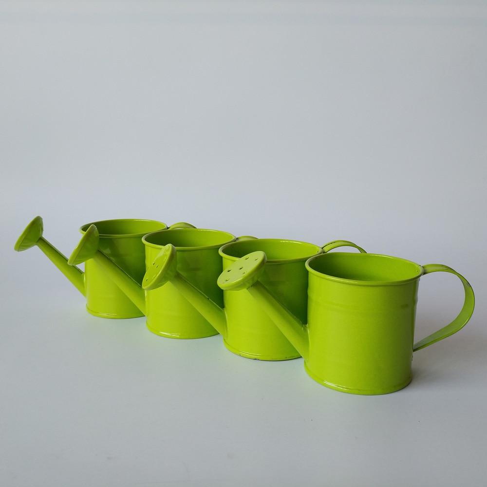 10pcs/lot green small watering pot metal flower kettle Miniature ...