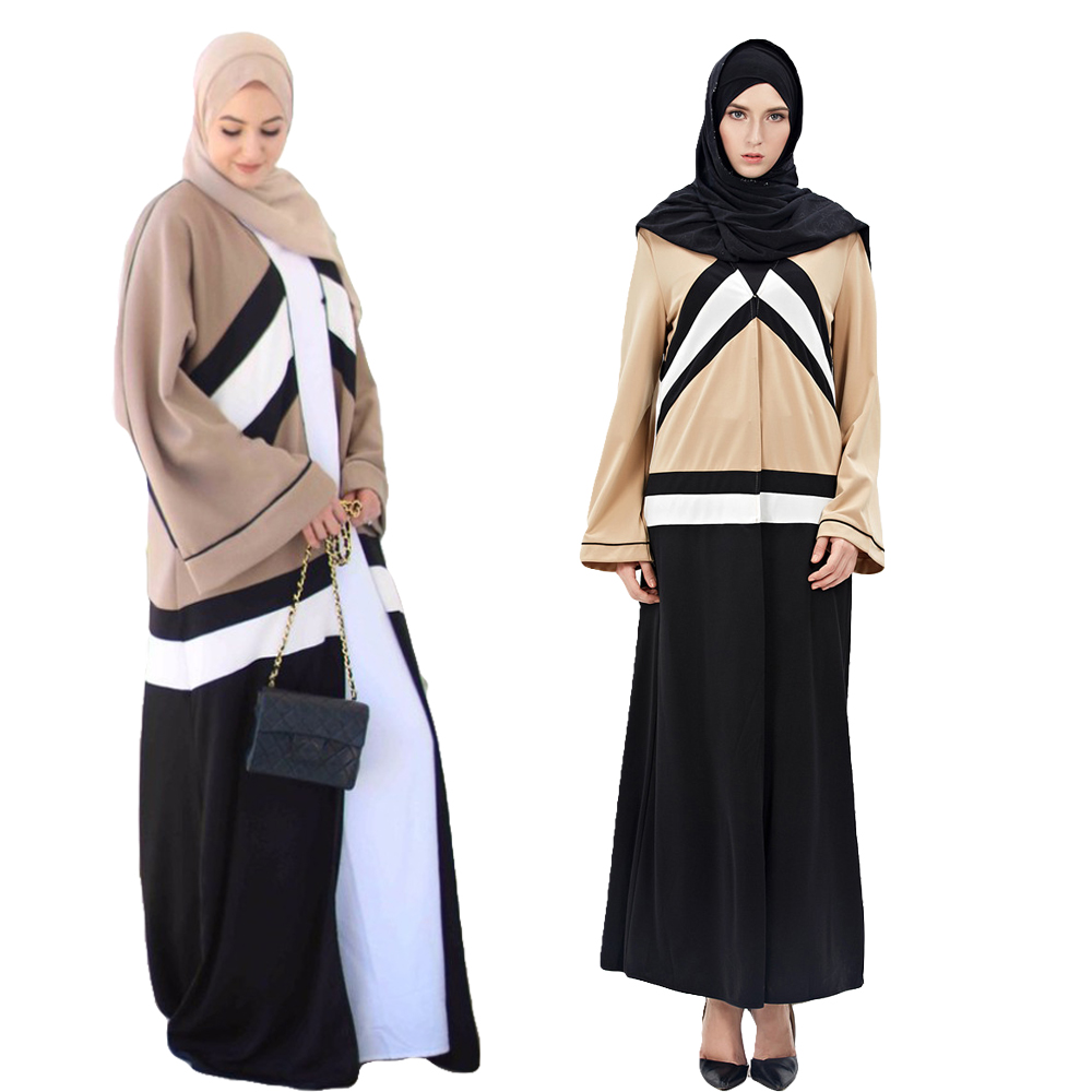 2017 New Fashion Muslim  Cardigan Robe Jilbab Abaya Islamic Dress Muslim Arab Turkish Amira Dubai Dresses
