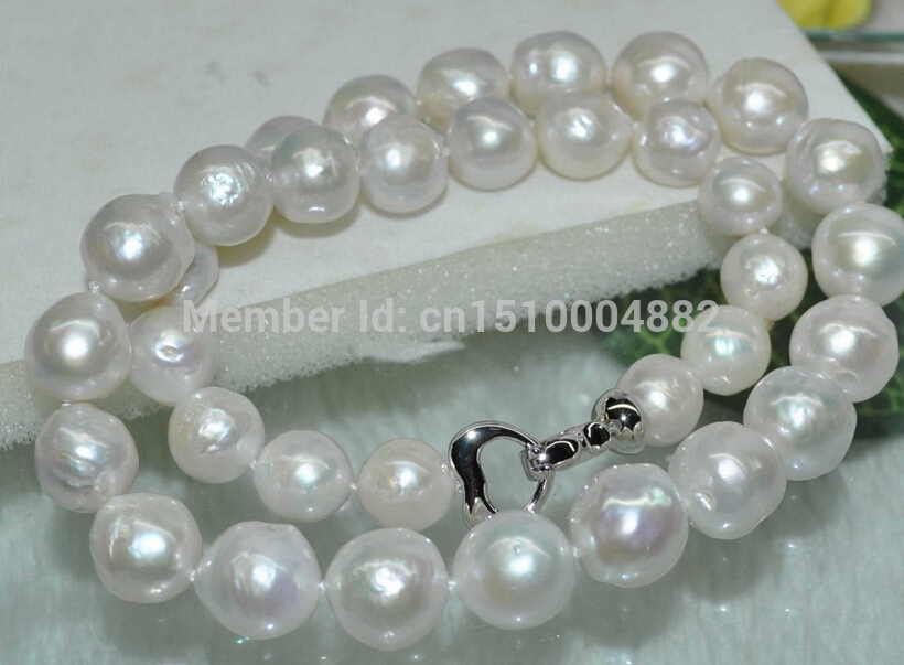 FREE SHIPPING>>>@ NEW Natural Rare white 11-13mm smooth furrow kasumi Pearl NecklaceFREE SHIPPING>>>@ NEW Natural Rare white 11-13mm smooth furrow kasumi Pearl Necklace