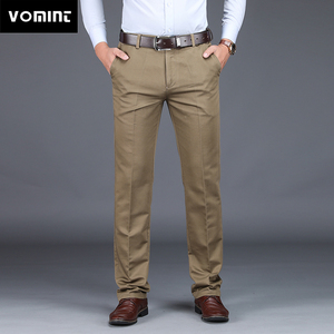 Image 1 - VOMINT 2020 Mens Suit pants Fashion Stretch Slim Straight Men Pant Anti Wrinkle Casual Business Quality Trousers Male Winter