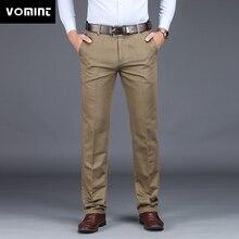Vominet combinaison pour hommes, pantalon extensible, droit, Anti rides, mode, Slim, qualité Business, hiver, 2020