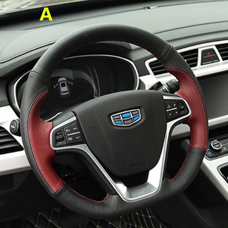 Geely new Emgrand 7 EC7 EC715 EC718 Emgrand7 E7,RS,GT,GC9 Borui,Emgrand-EV,EV,Car steering wheel cover комплект накладок на дверные ручки хром для geely emgrand gt 2017