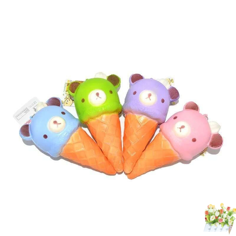 Kawaii Squishy Colorful Yummy Ice Cream Super Slow Rising Strap Squeeze Bread Cake Toy Gift Cellphones & Telecommunications Mobile Phone Straps