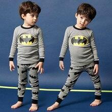 Сюе Moon пижамы для девочек Наборы для ухода за кожей дети милые Бэтмен пижамы Дети хлопок пижамы для маленьких мальчиков домашняя одежда для сна