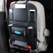 Автомобиль Организатором Автокресло хранения сумка для путешествий Box несколько карман искусственная кожа сиденье вешалка авто аксессуары интерьера укладка