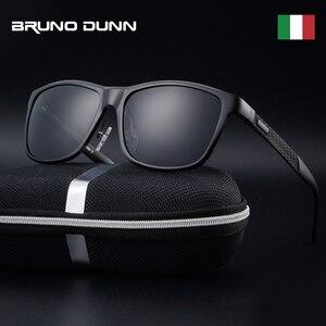 Image 1 - Bruno dunn Sunglasses Men Polarized 2020 Luxury Brand square metal frame male sun glasses oculos de sol masculino 2140 ray uv400