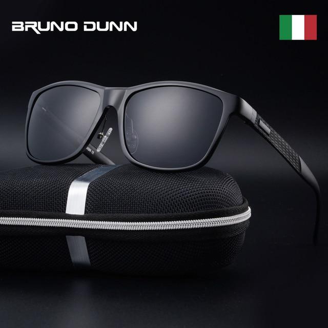 Bruno dunn Sunglasses Men Polarized 2020 Luxury Brand square metal frame male sun glasses oculos de sol masculino 2140 ray uv400
