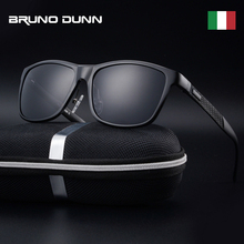 Bruno dunn gafas de sol polarizadas para hombre, anteojos de sol masculinos con marco cuadrado de metal, 2020 ray uv400, 2140