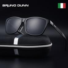 Bruno dunn okulary mężczyźni spolaryzowane 2020 luksusowej marki kwadratowa rama metalowa mężczyzna okulary óculos de sol masculino 2140 ray uv400