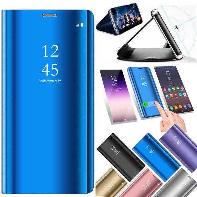 Espejo caso inteligente para Huawei P Smart 2019 P20 Lite P30 Pro P10 Nova 3 3i 4 Honor 10 Lite 8X8 9 Lite V20 jugar amigo 20 10 cubierta