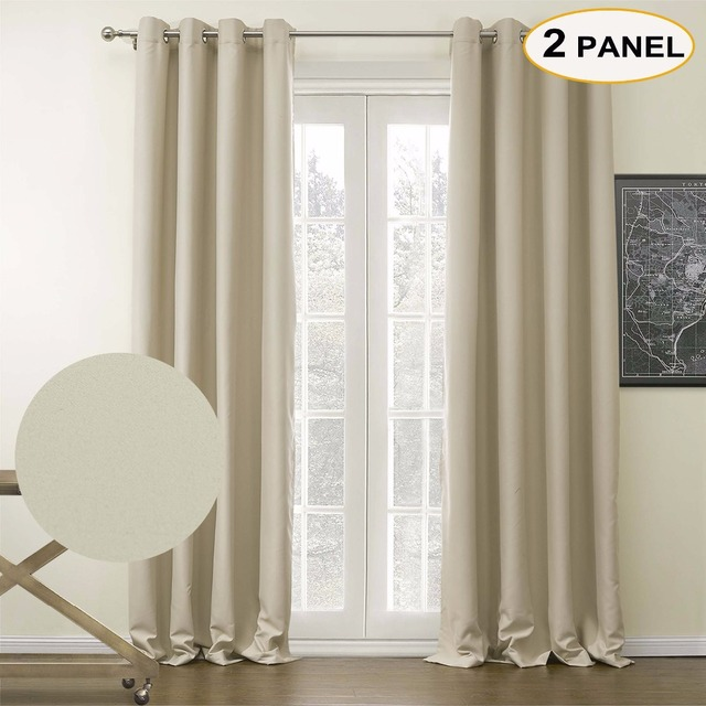 momo solid curtains blackout grommet top thermal curtains window drapes for bedroom living room with custom - Thermal Curtains
