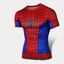 2015 Супермен Бэтмен Человек-Паук Ironman Marvel футболка Мстители Капитан Америка Зимний солдат Костюм Комиксов Superhero мужские