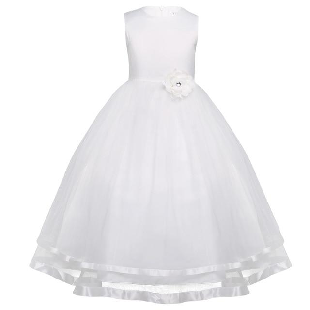 iiniim Princess Dress for Kids Girls Sleeveless Layered Tulle Flower Girl Dress Pageant Wedding Bridesmaid Birthday Party Dress