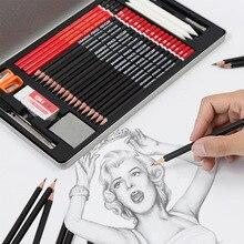 30 قطعة رسم مجموعة أقلام رصاص المهنية رسم مجموعة رسم عدة 2B 3B 4B 5B 6B 8B HB 2H 3H أقلام طلاب المدارس الفن اللوازم