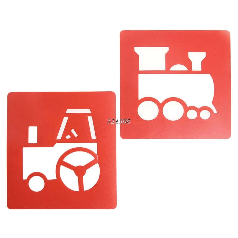 2017-Children-Transport-Shaped-Plastic-Painting-Drawing-Template-Stencil-Kids-Toy-6pcsset-FEB2330-3