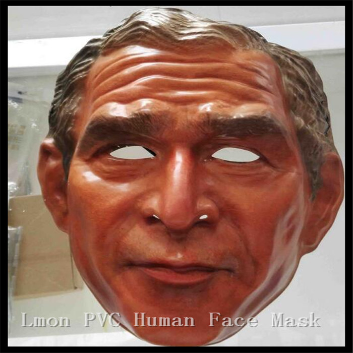 Free shipping Halloween Party Cosplay Human Face Mask Funny Famous Bush Latex Mask Halloween Costume Party