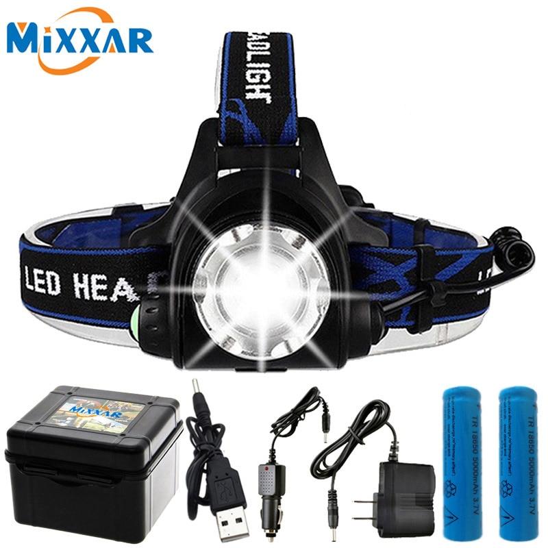 10000LM T6 L2 Led Scheinwerfer Zoomable dropshipping Scheinwerfer Wasserdichte Kopf taschenlampe Kopf Lampe Angeln Jagd Licht