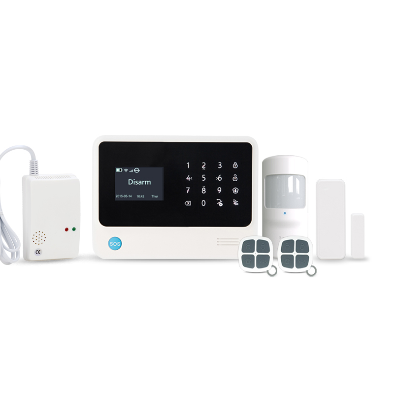 433MHz IOS/Android APP control security alarm system CID central monitor smart home GSM alarm system with Gas detector sensor 433mhz wireless wifi gsm alarm system android ios app control home security alarm system with curtain pir detector sensor