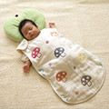 Envelope For Newborn Cotton Gauze Mushroom Sleeping Bag Ventilation Water Uptake Anti Kick Cover Size 48*80 Hot Sale