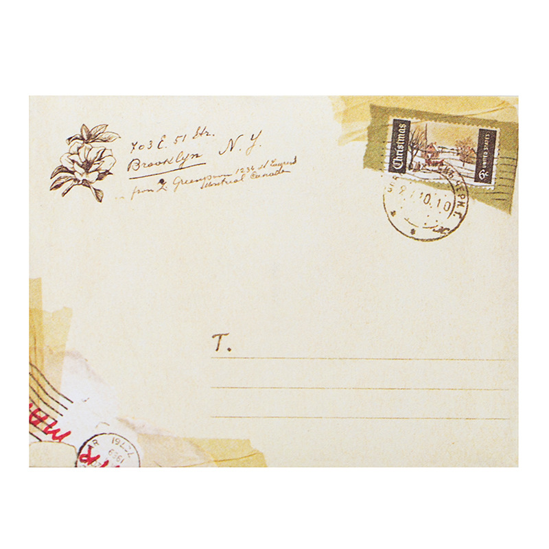 12Pcs Greeting Card Envelopes, Cute Retro Lovely Vintage Special ...