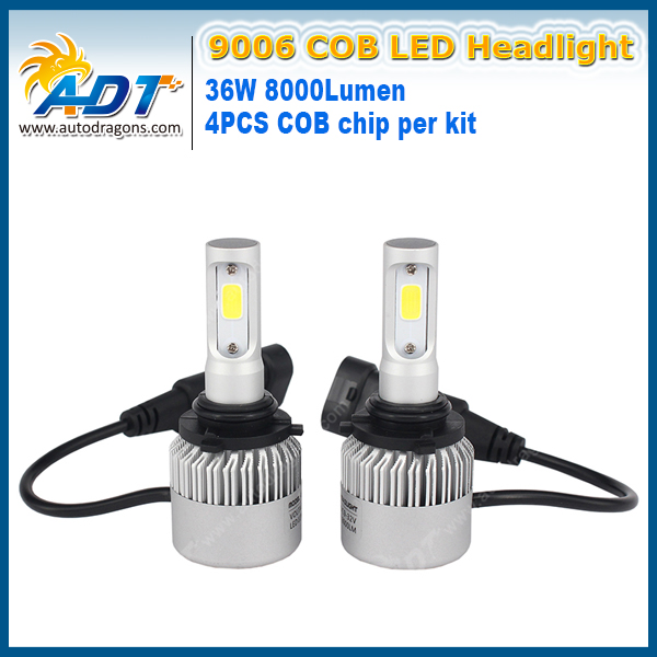 S2 PX26W H7 LED Headlight COB 12V 72W 8000LM 6500K fog lamp shine well super bright Strong penetration in snowy weather