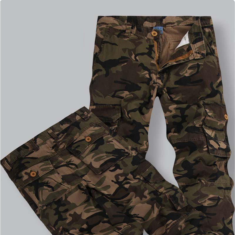 New Men Military Cargo Pants mens Casual Combat SWAT Army active Work Cotton male Long Trousers