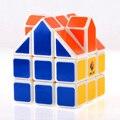 Cubetwist 3x3x3 cubo mágico casa n ° 2 puzzle brinquedos para crianças crianças-branco (orange telhado)