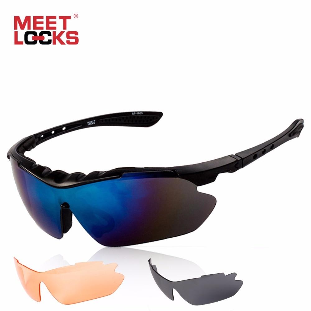 MEETLOCKS Sport-Sonnenbrille mit Antibeschlag-Objektiv - Radfahren