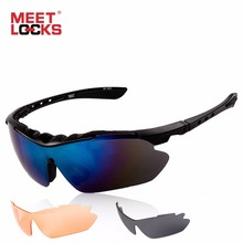 цены на MEETLOCKS Bike Sports Sunglasses With Anti-Fog Lenses, UV Protect 400 Eyewear , Cycling Outdoor Glasses 3 Lenses,For Men& Women   в интернет-магазинах