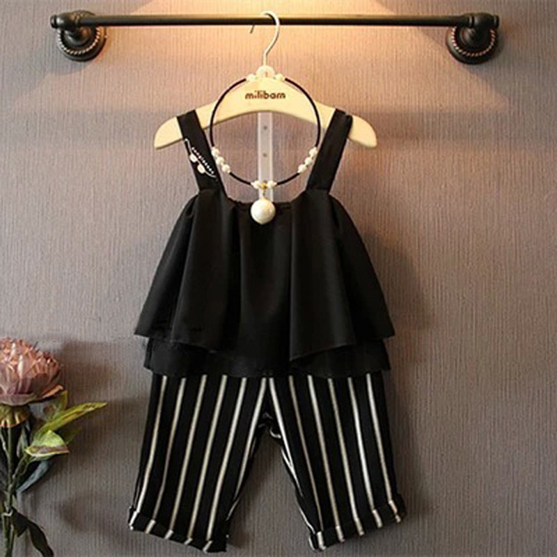 IMIHOUSE Girls Clothes Sets Summer Children Clothing Suits