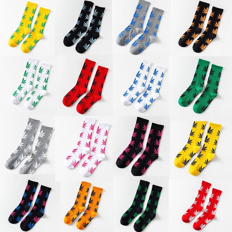Men's Socks 1 Pair Mens Fashion Business Weed Hemp Cotton Socks Street Fashion Skateboard Couple Girls Harajuku Trend Socks Give Men A Gift