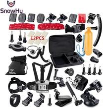 Snowhu для GoPro Hero 5 4 Аксессуары комплект шлем груди ремень штатив монопод для GoPro Hero 5 герой 4 3 + Xiaomi Yi SJCAM GS13