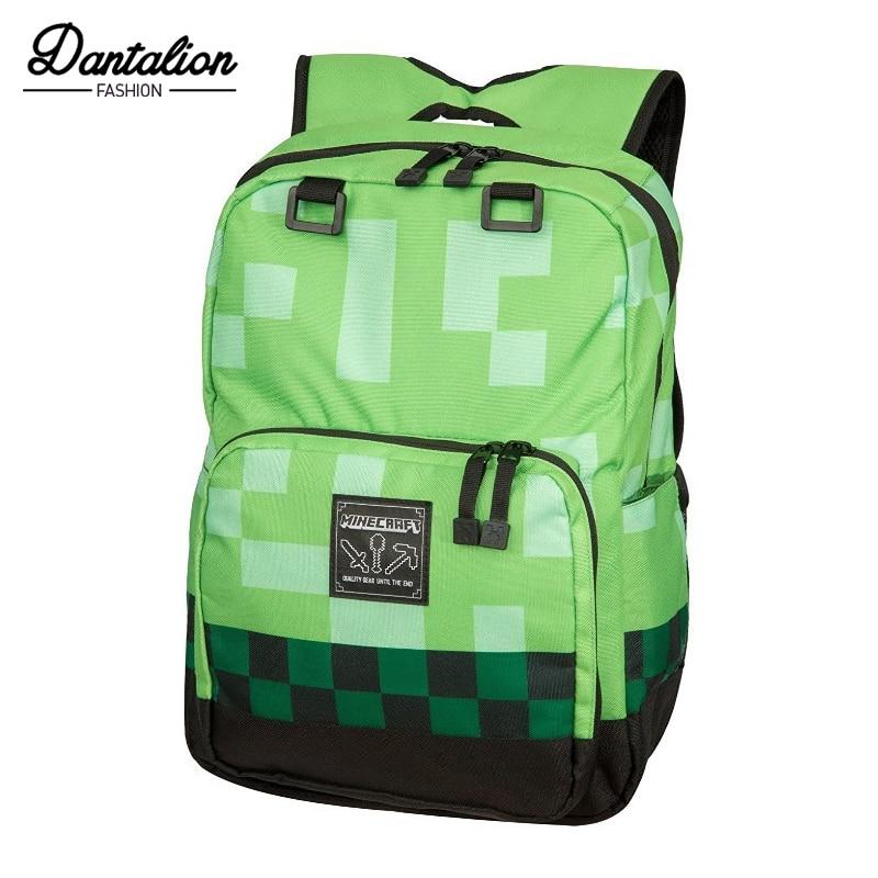 Minecraft Backpack Children School Bags High Quality Boy Backpacks Sac A Main Travel Good Bag For Kids Mochila Good Gift SA-8