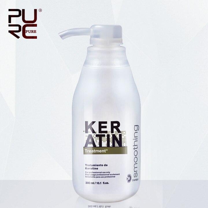 PURC Brasilianische Keratin Behandlung begradigung haar 5% formalin 300 ml Beseitigen frizz und haben glänzende, gesünder haar