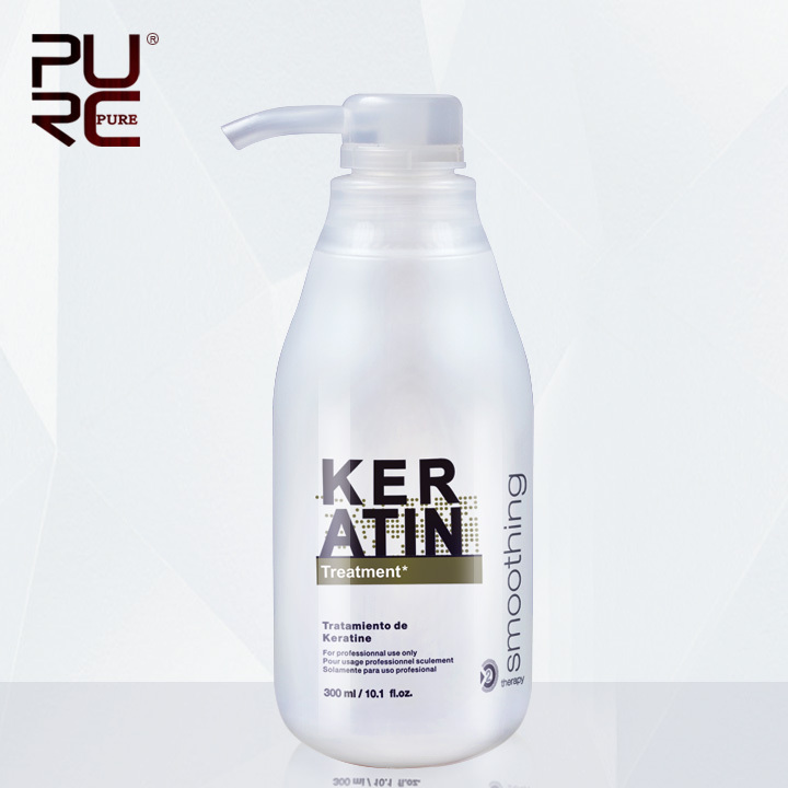 PURC Brazilian Keratin Treatment straightening hair 5% formalin 300 ml Eliminate frizz and have shiny, healthier hair