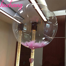 50pcs 10inch 18inch 24inch 36 No Wrinkles Clear Bubble Balloon Transparent Helium Balloons Wedding Brithday Party Decor Globos