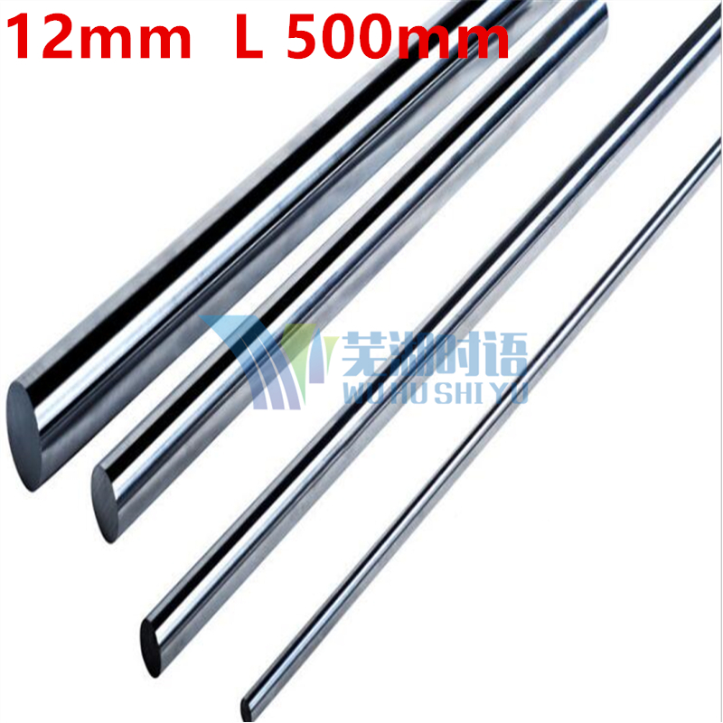 2 pcs/lot 12mm linear shaft L 500mm chrome plated linear motion guide rail round rod shaft for cnc parts 3d printer parts диски helo he844 chrome plated r20