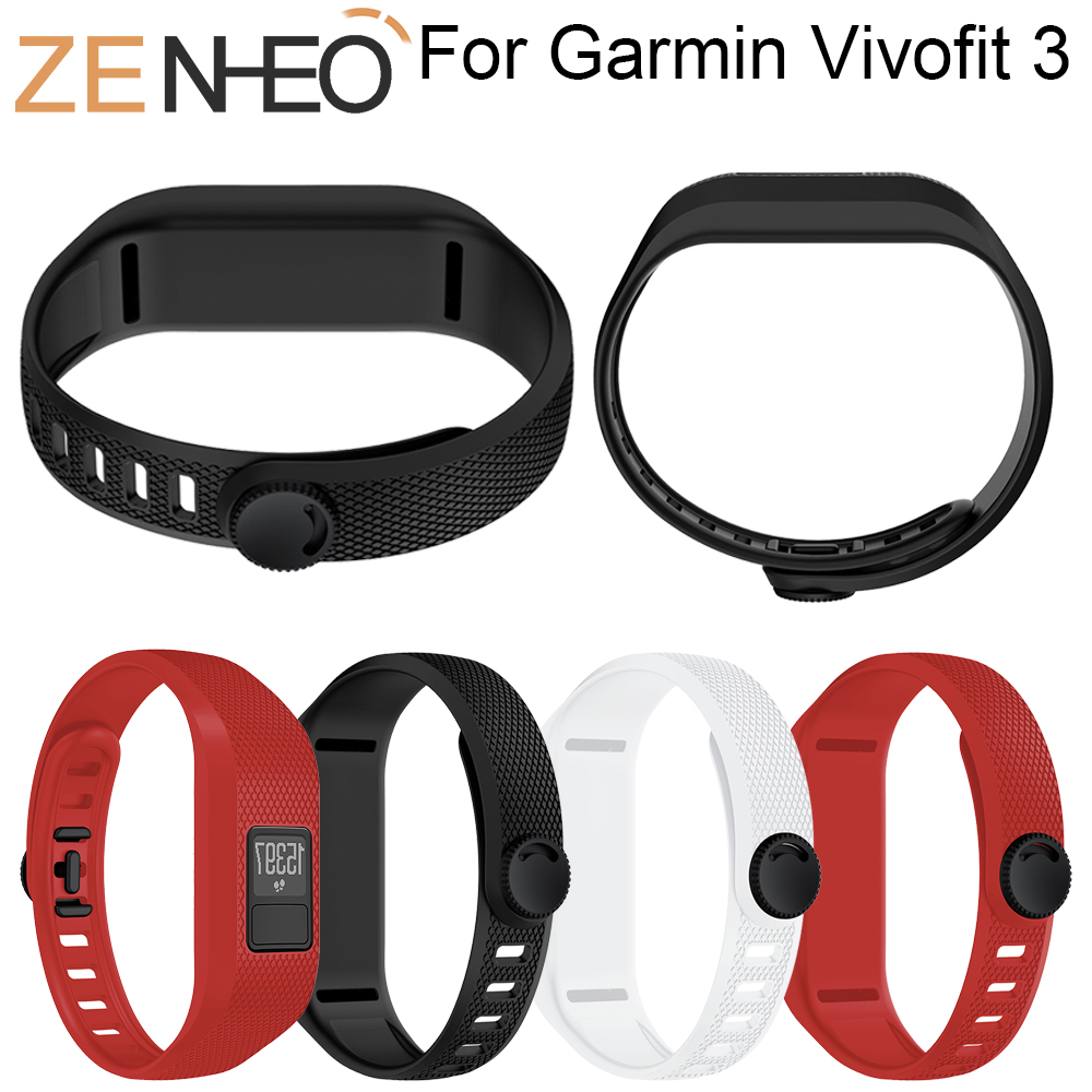 Sport Silicone Watchband for Garmin Vivofit 3 Band Soft Watch Band Replacement Strap For Garmin Vivofit 3 Bracelet Wristband